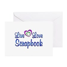 Live Love Scrapbook Greeting Cards (Pk of 20)