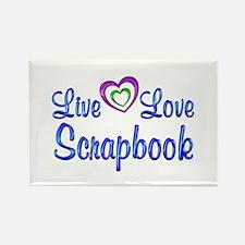Live Love Scrapbook Rectangle Magnet