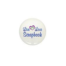 Live Love Scrapbook Mini Button (10 pack)