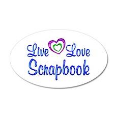 Live Love Scrapbook Wall Decal