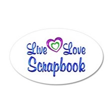 Live Love Scrapbook Wall Decal