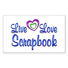 Live Love Scrapbook Decal