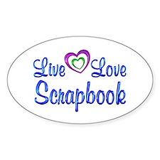 Live Love Scrapbook Decal