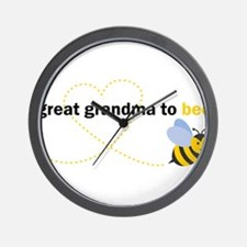Great Grandma To Bee Wall Clock