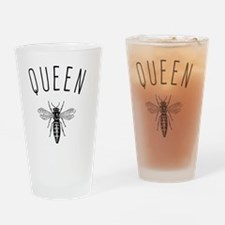 Queen Bee Drinking Glass