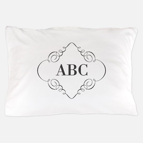Vintage Monogram Pillow Case