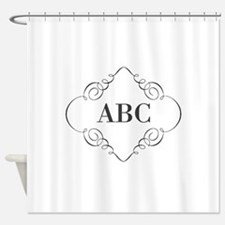 Vintage Monogram Shower Curtain