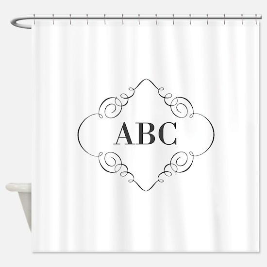 Vintage Monogram Shower Curtain