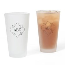 Vintage Monogram Drinking Glass