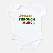Peace Through Music Infant Bodysuit