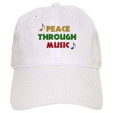 Peace Through Music Baseball Cap