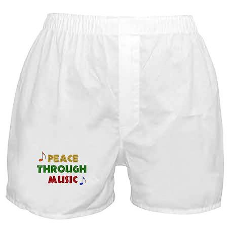Peace Through Music Boxer Shorts