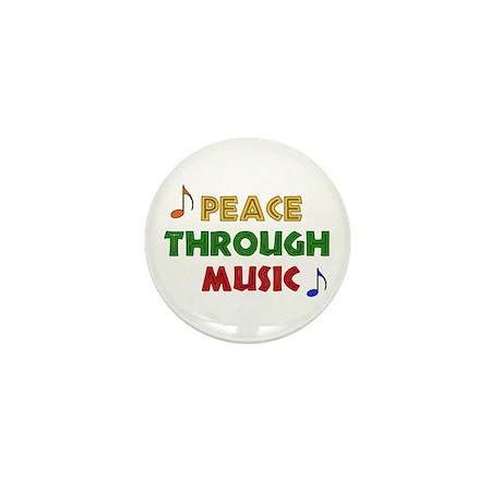 Peace Through Music Mini Button