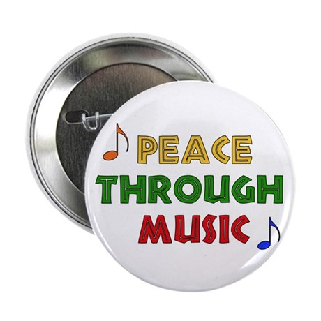 Peace Through Music Button
