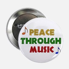 "Peace Through Music 2.25"" Button (100 pack)"