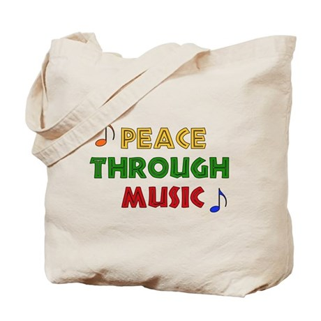 Peace Through Music Tote Bag