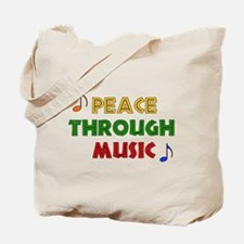 Peace Through Music Tote Bag