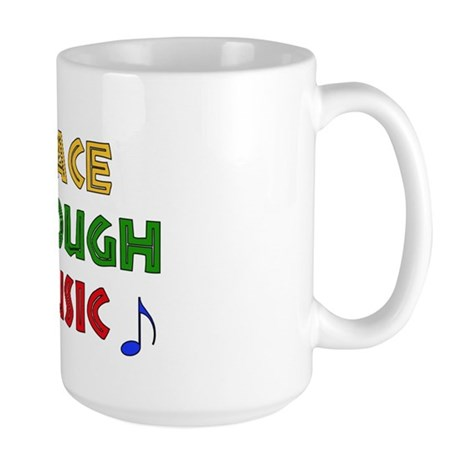 Peace Through Music Large Mug