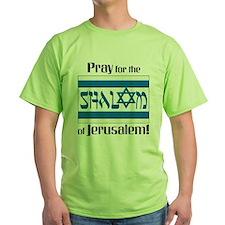 pray shalom2 white T-Shirt