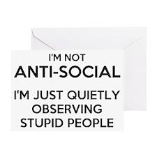 Cute Antisocial Greeting Card