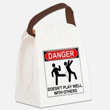 Unique Funny injury Canvas Lunch Bag