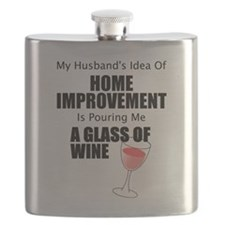 Cute Wine glass Flask