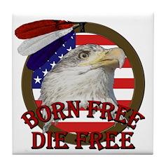 Born Free American Eagle Tile Coaster
