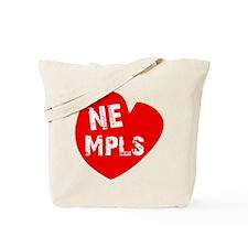Heart NE Mpls - Red Tote Bag
