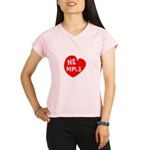 Heart NE Mpls - Red Performance Dry T-Shirt