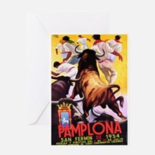 Vintage Pamplona Spain Travel Greeting Cards