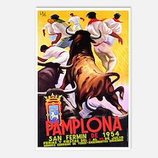 Vintage Pamplona Spain Travel Postcards (Package o