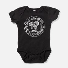 Chinese Zodiac Sheep 2015 Baby Bodysuit