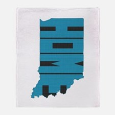 Indiana Home Throw Blanket