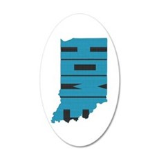 Indiana Home 20x12 Oval Wall Decal