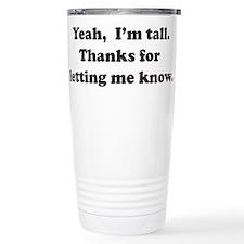 Unique Tall Travel Mug