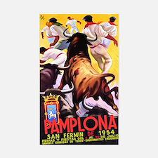 Vintage Pamplona Spain Travel Decal