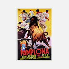 Vintage Pamplona Spain Travel Magnets