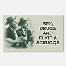 Rectangle Sticker: Flatt & Scruggs