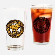 Chinese Zodiac New Year 2015 Drinking Glass