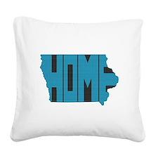 Iowa Home Square Canvas Pillow