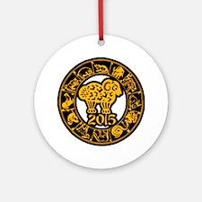 Chinese Zodiac New Year 2015 Ornament (Round)