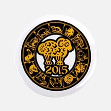 "Chinese Zodiac New Year 2015 3.5"" Button"