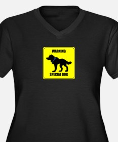 Warning: Special Dog Dagas Plus Size T-Shirt