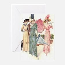 Triad Of Edwardian Ladies Greeting Cards (Pk of 20