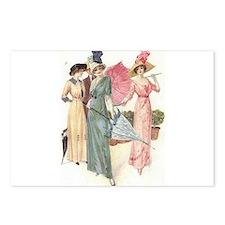 Triad Of Edwardian Ladies Postcards (Package of 8)