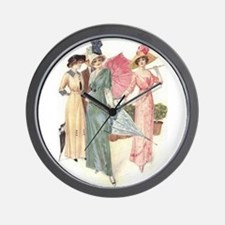 Triad Of Edwardian Ladies Wall Clock