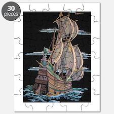 Galleon On Velvet Puzzle