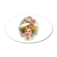 Edwardian Lady In Rose Hat Portrait Wall Decal
