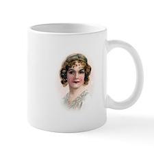 Portrait Of Flapper In Pink Mug