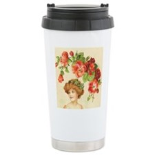 Romantic Edwardian Flapper Travel Mug